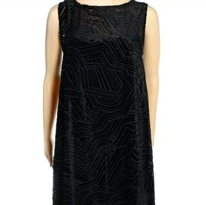 Alfani Women's Black Dress Velvet look